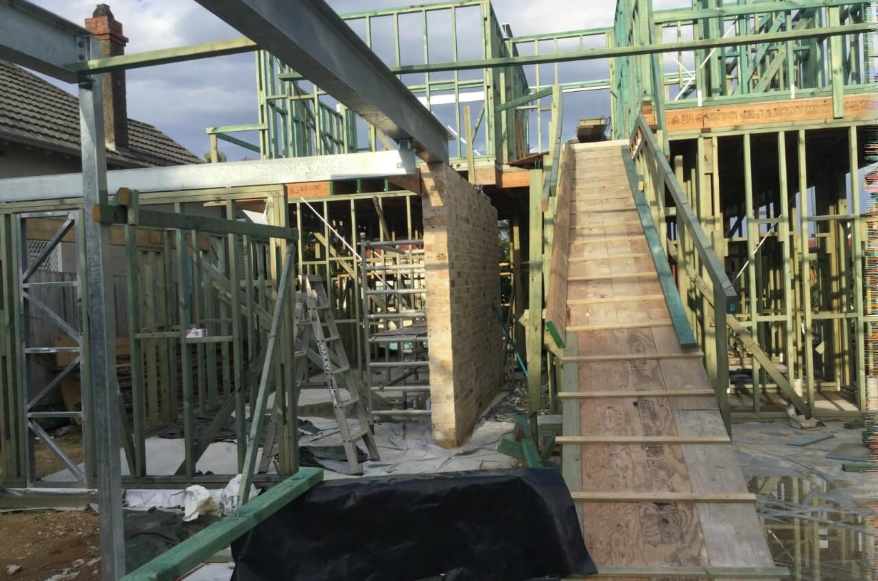 Frames Up New Luxury Home – Manly The Right Builder